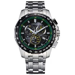 Mens Citizen Eco-Drive Chronograph Stainless Steel Watch BL5578-51E
