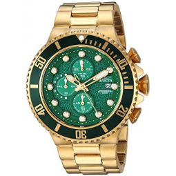 Invicta Mens Pro Diver Quartz Diving Watch with Stainless-Steel Strap, Gold, 26 (Model: 25299)