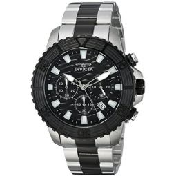 Invicta Mens Pro Diver Quartz Watch with Stainless-Steel Strap, Two Tone, 22 (Model: 24004)