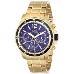 Invicta Mens INVICTA-13978 Specialty 18k Gold Ion-Plated Watch