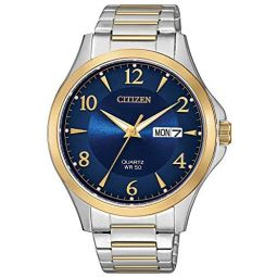 Citizen Mens Japanese-Quartz Stainless-Steel Strap, Two Tone, 17 Casual Watch (Model: BF2005-54L)