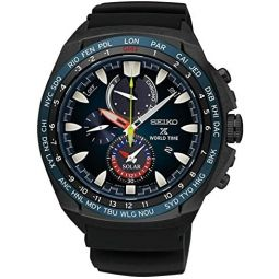 Seiko Solar Wolrd Time Chronograph SSC551P1 Mens Wristwatch With Alarm
