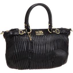 Coach Madison Gathered Leather Sophia Convertible Bag MSRP $498 18620 Black