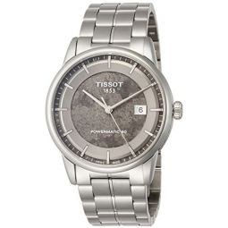 Tissot Mens Swiss-Automatic Watch with Stainless-Steel Strap, Silver, 22 (Model: T0864071106110): Clothing