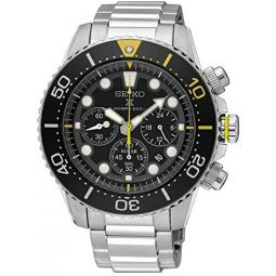 SEIKO Prospex Sea Divers 200m Chronograph Solar Sports Watch Silver SSC613P1