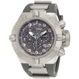 Invicta Mens 1390 Subaqua Noma IV Chronograph Grey Dial Grey Silicone Watch