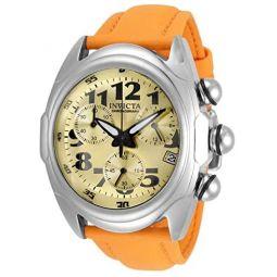 Invicta Mens Lupah Stainless Steel Quartz Watch with Polyurethane Strap, Orange, 26 (Model: 31403)