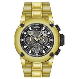 25296 - INVICTA S1 Rally Men 52mm Stainless Steel Black + Stainless Steel Black dial VD53 Quartz