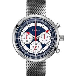Bulova Mens Analogue Quartz Watch with Stainless Steel Strap 96K101