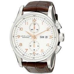 Hamilton Mens H32766513 Jazzmaster Analog Display Automatic Self Wind Brown Watch