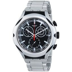 Swatch Mens YYS4000AG Irony Analog Display Swiss Quartz Silver Watch