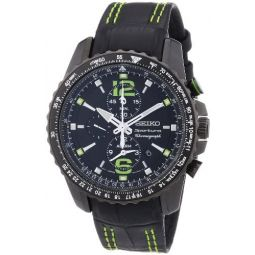 Seiko Mens SNAE97P1 Black PVD Stainless Steel Chronograph Watch