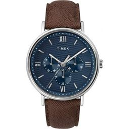 Timex Mens Southview Multifunction 41 mm Leather Strap Watch