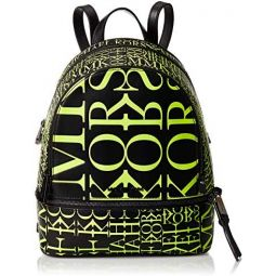 Michael Kors Rhea Medium Newsprint Logo Leather Backpack