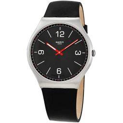 Swatch SKINBLACK Quartz Black Dial Mens Watch SS07S100