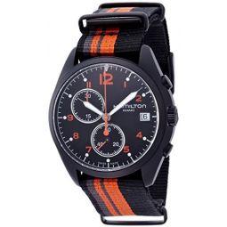 Hamilton Khaki Aviation Pilot Pioneer Chrono Quartz Mens Quartz Watch H76582933