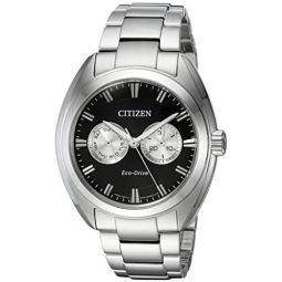 Citizen Mens Dress Japanese-Quartz Watch with Stainless-Steel Strap, Silver, 22 (Model: BU4010-56E): Clothing