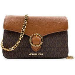 Michael Kors Womens Wanda Medium Signature Leather Shoulder Bag