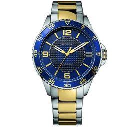Tommy Hilfiger 1790839 블루 다이얼 투톤 스테인리스 스틸 남성용 시계 신상품