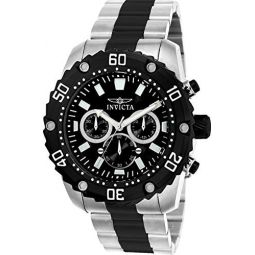 Invicta Mens Pro Diver Quartz Watch with Stainless-Steel Strap, Two Tone, 24 (Model: 22521)