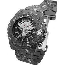 Invicta Mens 52mm Pro Diver Dragon Edition Quartz Chronograph Hydroplated Combat Black Stainless Steel Bracelet Watch