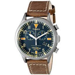 Timex Unisex TW2P84100ZA Waterbury Analog Display Analog Quartz Brown Watch