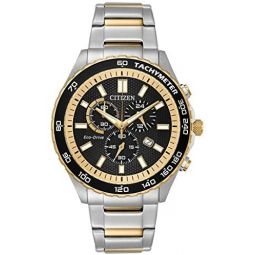 Citizen Eco-Drive Movement Black Dial Mens Watch AT2126-56E
