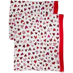 Kate Spade New York Dancing Hearts Oblong Scarf