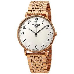 Tissot T-Classic Everytime Rose Gold Watch T1096103303200: Clothing