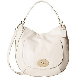 Coach Circle Hobo in Smooth Leather Handbag 34656