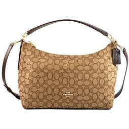 Coach East/West Celeste Convertible Hobo in Outline Signature (Khaki/Brown) - F54936