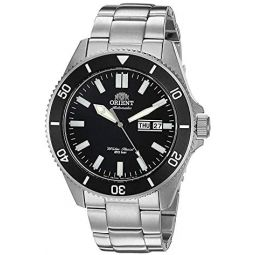 Orient Mens Kanno Stainless Steel Japanese Automatic / Hand-Winding 200 Meter Diving Style Watch