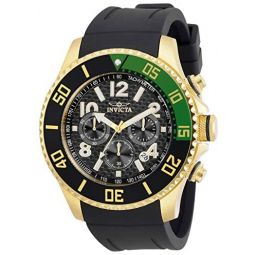Invicta Pro Diver Men 48mm Stainless Steel Gold Black dial Quartz, 30709