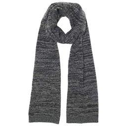 Club Monaco Mens 100% Wool Gray Marled Scarf