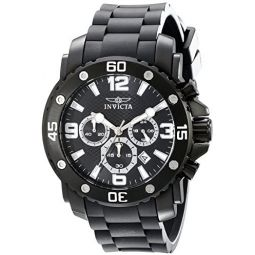 Invicta Mens 18168 Pro Diver Analog Display Japanese Quartz Black Watch