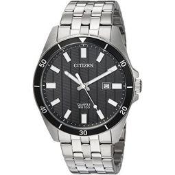 Citizen Mens Quartz Stainless Steel Casual Watch, Color:Silver-Toned (Model: BI5050-54E)