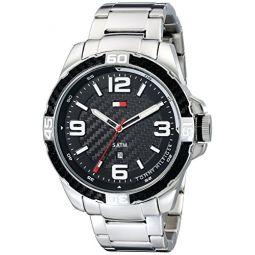 Tommy Hilfiger 남성용 1791092 아날로그 디스플레이 쿼츠 실버 시계