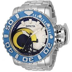 Invicta NFL Los Angeles Rams Automatic White Dial Mens Watch 33019