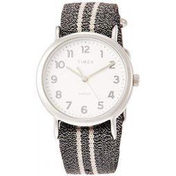 Timex Weekender 38 mm Gray Metallic Strap Watch TW2R92200