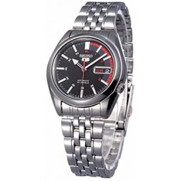 Seiko Series 5 Automatic Black Dial Mens Watch SNK375J1
