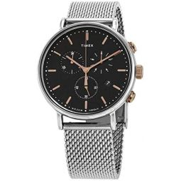 Timex Fairfield Chronograph Quartz Black Dial Mens Watch TW2T11400