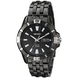 Seiko Mens SNE177 Solar Black Dial Watch