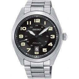 Seiko Mens SRPC85K Silver Stainless-Steel Automatic Fashion Watch