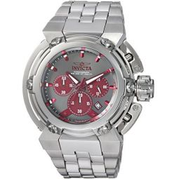 Invicta Mens Coalition Forces Analog-Quartz Watch with Stainless-Steel Strap, Silver, 18 (Model: 22426)