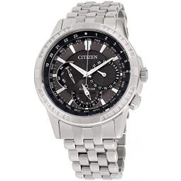 Citizen Calendrier Grey Dial Stainless Steel Mens Watch BU2080-51H