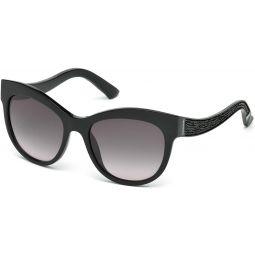 Sunglasses Swarovski SK 110 SK0110 01B shiny black / gradient smoke