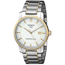 Tissot 남성용 T0874075503700 T-클래식 아날로그 디스플레이 스위스 오토매틱 실버 시계