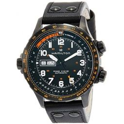 Hamilton Khaki X-Wind Day Date Auto Black Mens Watch H77785733