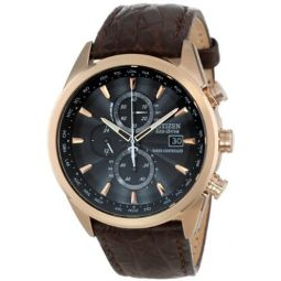 Citizen Mens Eco-Drive World Chronograph Atomic Timekeeping Watch with Day/Date, AT8013-17E