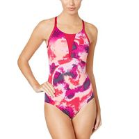 Nike Womens Cascade High-Neck Racerback One-Piece Swimsuit